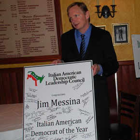 Jim Messina, President Obama's campaign manager, Receives the Machiavelli Award as the Italian Democrat of the Year