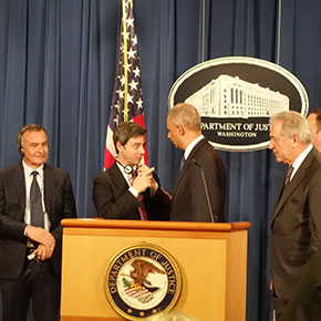 Italian Justice Minister Andrea Orlando Meets U.S. Attorney General Eric Holder