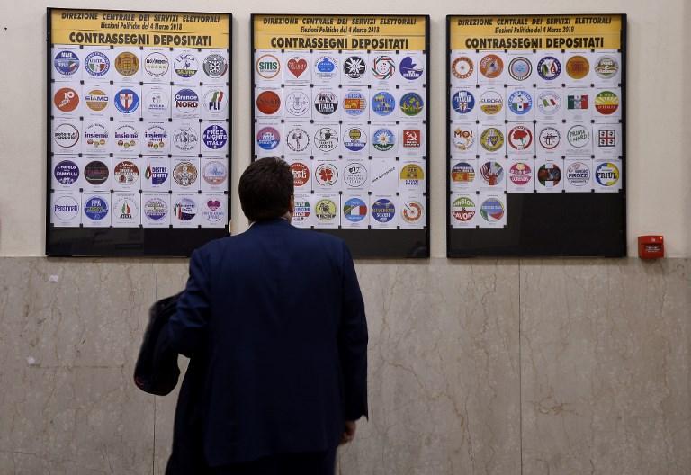 ITALY-POLITICS-ELECTIONS-PARTIES-LOGO