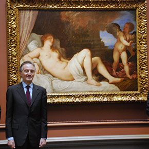 Titian's Danaë in Washington inaugurates Italy's Presidency of the Council of the European Union