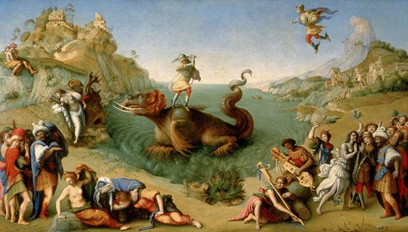 Piero di Cosimo, Liberation of Andromeda, c. 1510-1513 Galleria degli Uffizi, Florence